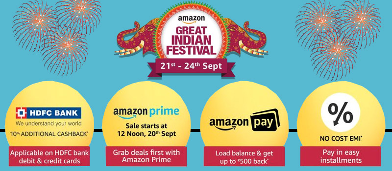 Amazon great festival sale offers